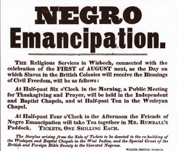 Slavery ended date in Wellington
