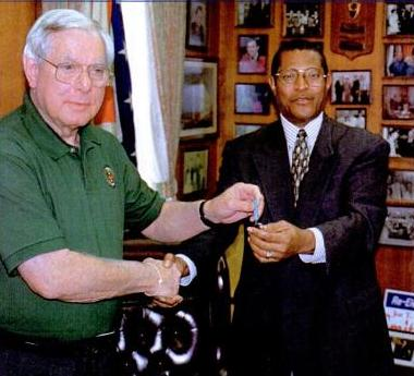 In 2000, mayor-elect James Perkins, Jr. receives the key to the City of Selma