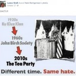 Stoll comparing the Tea Party to the KKK, again.