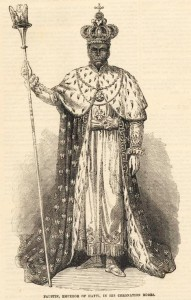 Emperor Faustin I Soulouque of Haiti (1849-1859) in his coronation robe
