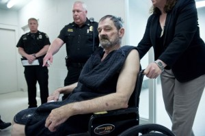 Frazier Glenn Miller Jr. at his arraignment