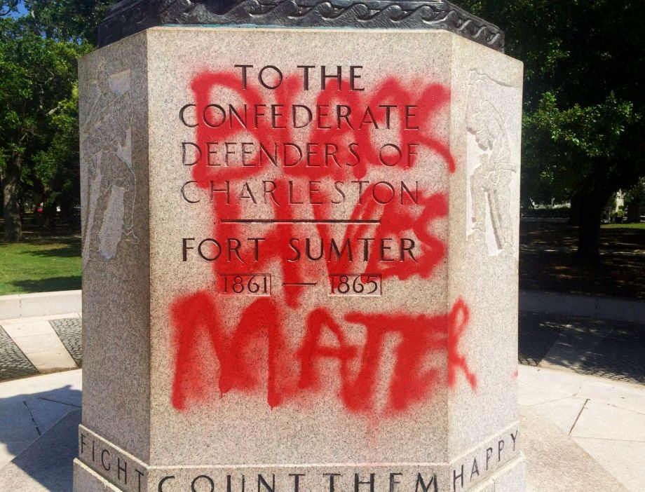 Confederate monument in Denton, TX vandalized by #BlackLivesMatter supporters