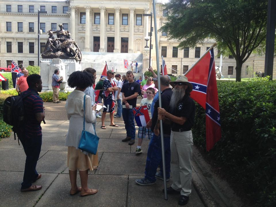 League of the South member are on the ground in Jackson, MS