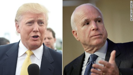 Trump: John McCain cares more about Iraq's border than Arizona's.